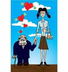 strange couple vector image
