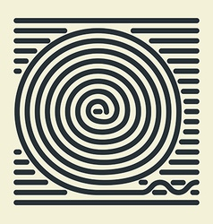 Striped Spiral vector image