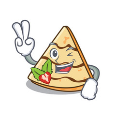 Two finger crepe character cartoon style vector