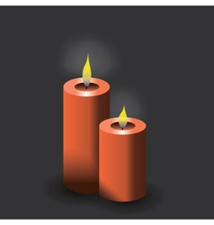 two red candles eps10 vector image