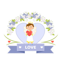 Valentines day holiday angel or cupid love symbol vector