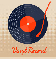 vinyl record music with classic background vector image