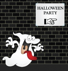 Wall halloween party vector