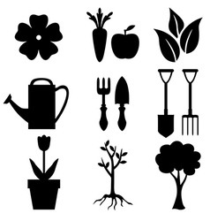 agro silhouette vector image