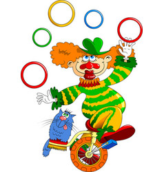 clown on a bicycle vector image