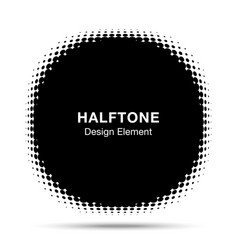 convex distorted abstract halftone circle frame vector image vector image