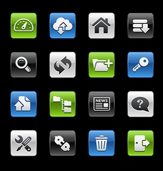 Hosting Icons vector image vector image