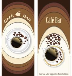 Menu for restaurant cafe bar coffeehouse vector