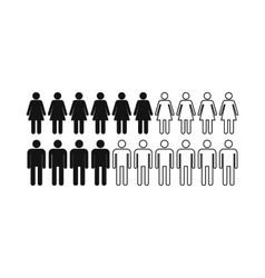 People icon simple style vector image vector image