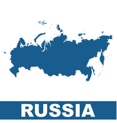 russia map flat vector image vector image