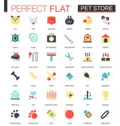 set of flat pet friend icons vector image