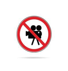 sign for no camera color vector image vector image