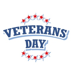Veterans Day USA logo isolated on white background vector image