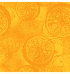Hand drawn orange or lemon citrus fruit vector