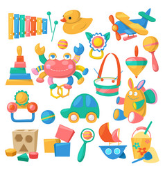 kids toys cartoon games for children in vector image