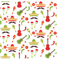 mexican repeating seamless pattern cinco de mayo vector image