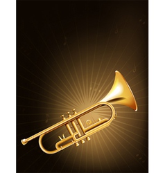 A golden trumpet vector image vector image