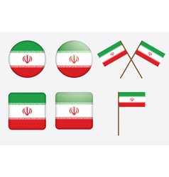 badges with flag of Iran vector image vector image