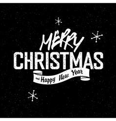 christmas lettering vintage vector image vector image