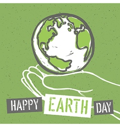 Happy Earth Day Design for Earth Day Concept vector image vector image