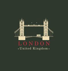 london bridge logo english architectural landmark vector image vector image