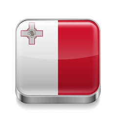 Metal icon of Malta vector image vector image