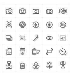 mini icon set - camera icon vector image vector image