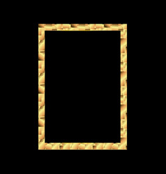 set of gold photo frame with corner thailand line vector image vector image