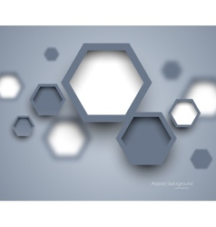 Abstract science gray background vector image vector image