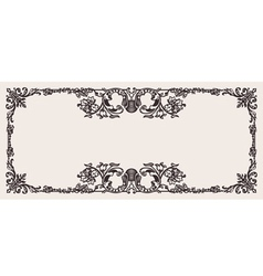 Antique Ornate Frame Scalable And Editable vector image