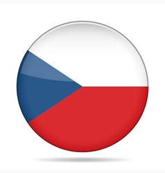 button with flag of Czech Republic vector image vector image