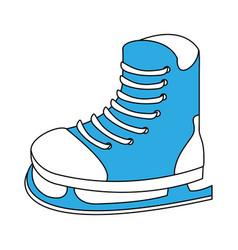 ice skate equipment vector image