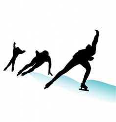 ice skate vector image