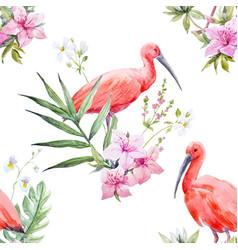 watercolor tropical pattern vector image vector image