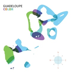 Abstract color map of Guadeloupe vector