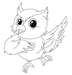 animal outline for owl vector image