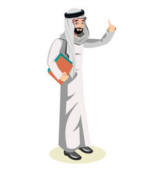 Arab man character vector