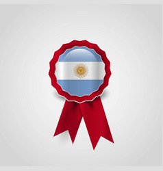 argentina flags badge design vector image