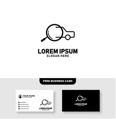 Auto check logo design and business card template vector
