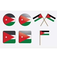 badges with flag of Jordan vector image