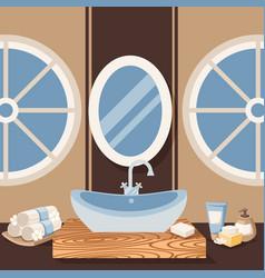 Bathroom sink sanitary vector