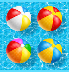 Beach ball set vector
