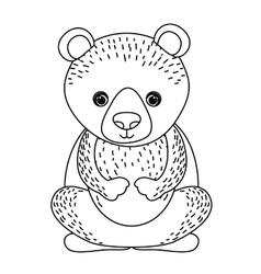 Bear cute wildlife icon vector