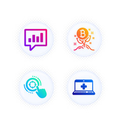 bitcoin project analytical chat and seo target vector image