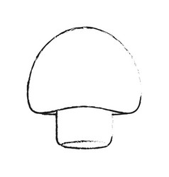 Blurred silhouette mushroom vegetable food vector