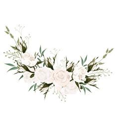 botanical spring wedding invitation card design vector image