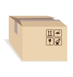 Box with shipping marks vector