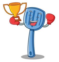 boxing spatula character cartoon style vector image