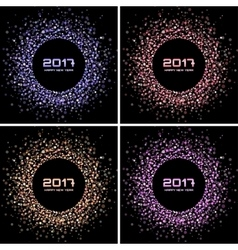 Bright Confetti New Year circle Backgrounds vector image