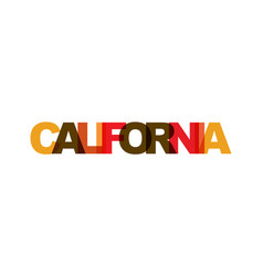 california phrase overlap color no transparency vector image